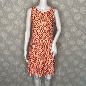 Jude Connally Dress Size Small Orange White